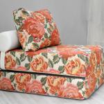 кресло кровать цветочный принт