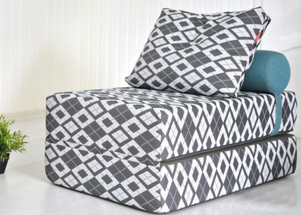 кресло кровать с принтом