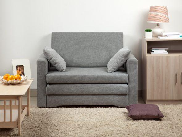 кресло кровать серого цвета