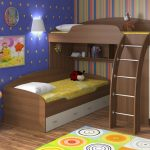 двухъярусная кровать чердак