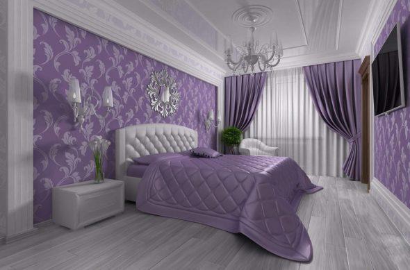 кровать фиолетовая