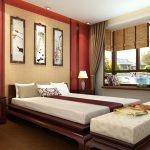 кровать двуспальная в спальне