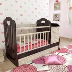 детская кровать венге