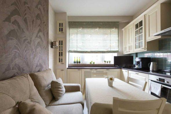 кухня 13 м кв с диваном