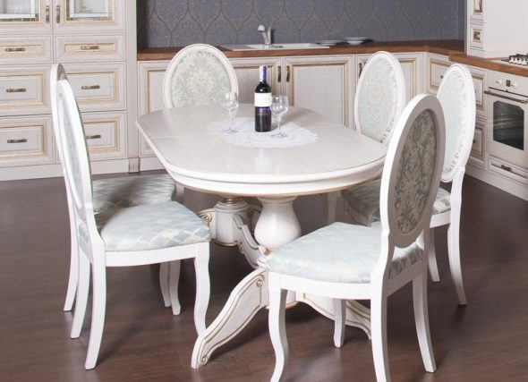 кухонный стол белый