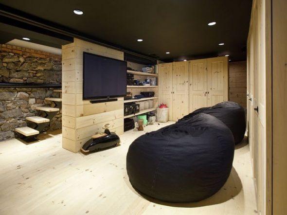 бескаркасная мебель черная