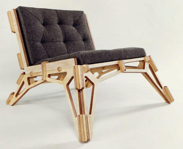 мягкое кресло из фанеры