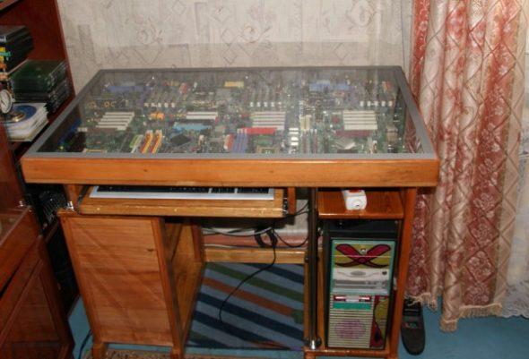 необычный компьютерный стол своими руками