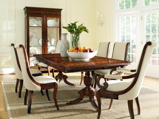 обеденные элитные столы для гостиной деревянные