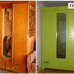 переделка старой мебели-шкаф