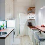 светлая кухня глянцевая