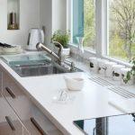 кухня глянцевый стол