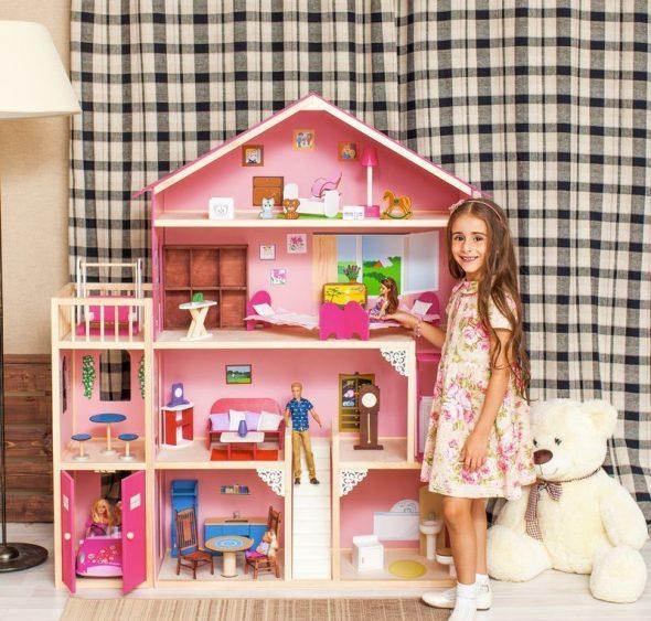 полка домик для девочки