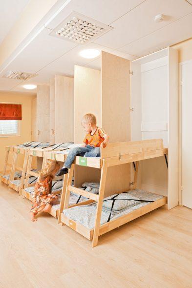 складная двухъярусная кровать для детского сада