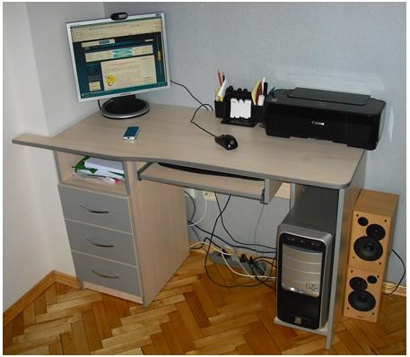 стол компьютерный своими руками прямой