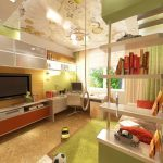комната подростка зеленых тонов