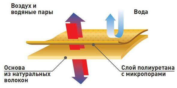 структура экокожи