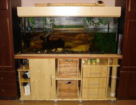 тумба под аквариум в интерьере