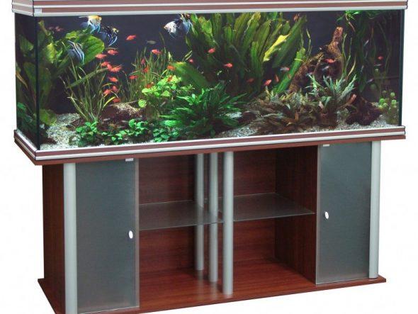 выбор дизайна тумбы под аквариум