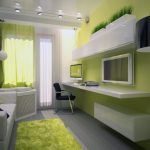 комната подростка бело зеленая