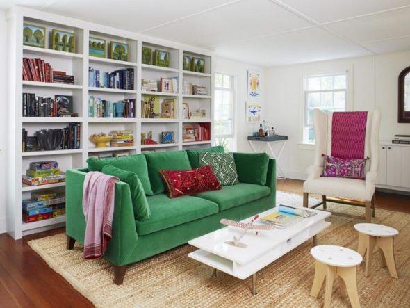 зеленый диван фото дизайна