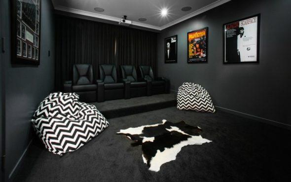 черно белые кресла мешки