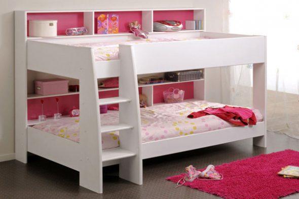 Цельная конструкция двухъярусной кровати