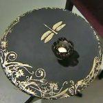 Декор столешницы яичной скорлупой