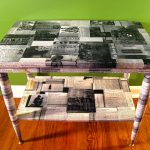 Декупаж мебели газетами