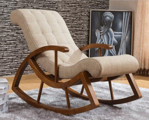 деревянное кресло качалка