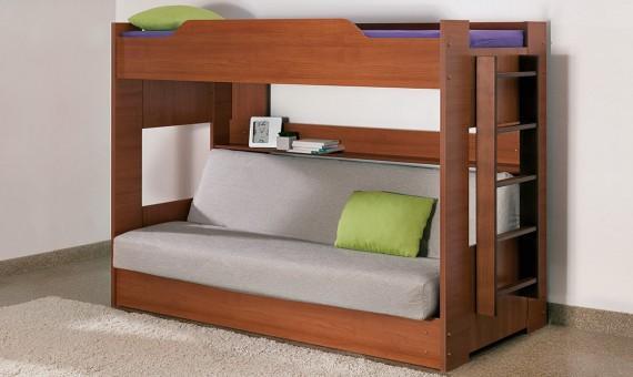 Детская двухъярусная кровать с диваном