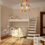 Детская комната для двух детей в стиле прованс