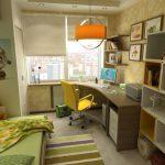 Детская комната школьницы