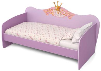Детская кровать для девочки фиолетового цвета
