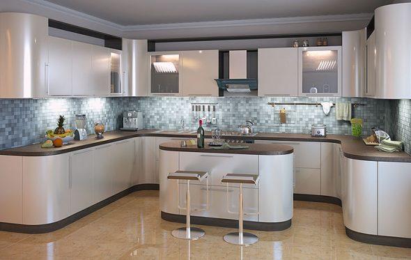 Дизайн большой кухни фото