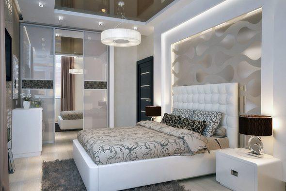 Дизайн спальни 15 кв.м фото