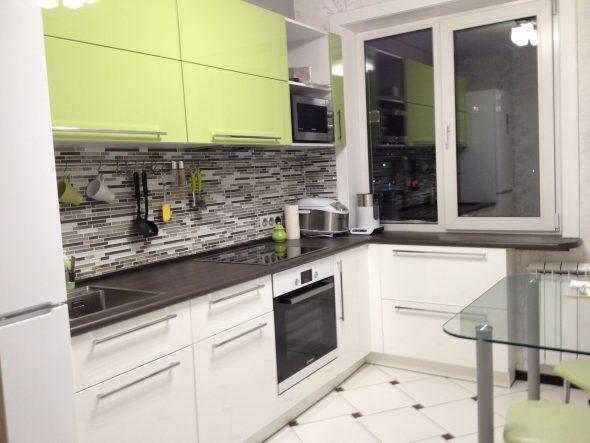 Дизайн угловой кухни 9 кв. м