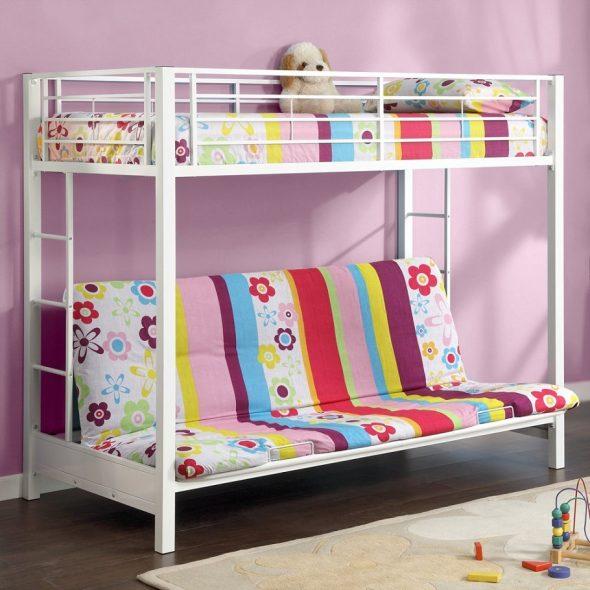 Двухъярусная детская кровать-экономия пространства