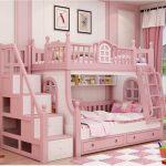 Двухъярусная кровать для девочек замок