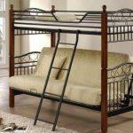 Двухъярусная кровать с диваном внизу-дерево и метал