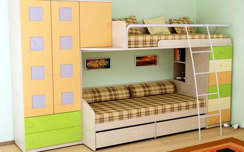 Двухярусные кровати для детей в комнату