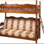 Двухярусный диван кровать с нишей для белья