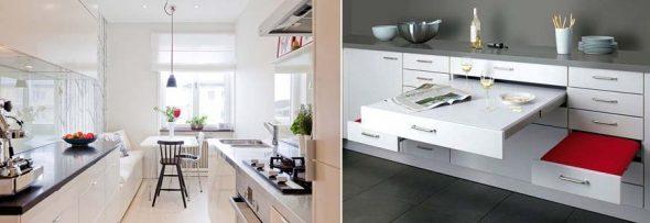Двухлинейные кухни