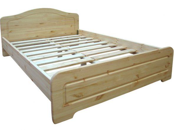 Двуспальная кровать Услада 160х200 из сосны