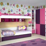 Фото детская комната для 2 девочек с двухъярусной кроватью