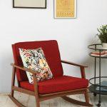 кресло качалка красное