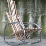 кресло качалка дерево фото
