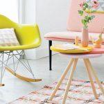 кресло качалка желтое