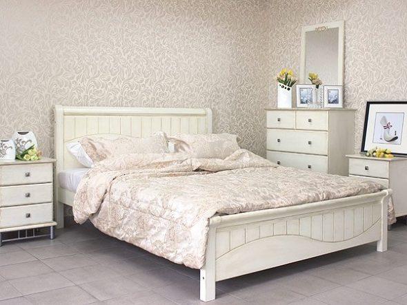 Кровать Прованс 120х200 см Белая с патиной
