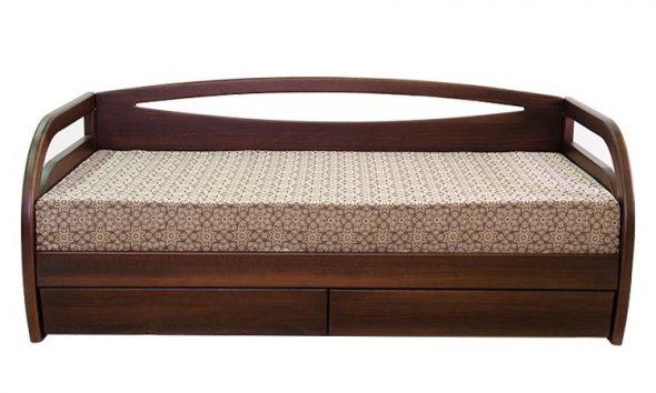 Кровать Скай с ящиками для белья из массива бука